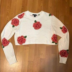 Beautiful rose cropped top. Size medium.